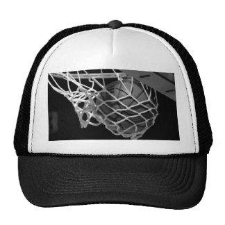 Baloncesto negro y blanco gorros bordados