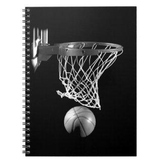 Baloncesto negro y blanco libros de apuntes