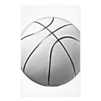 Baloncesto negro y blanco personalized stationery