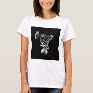 Baloncesto negro y blanco playera