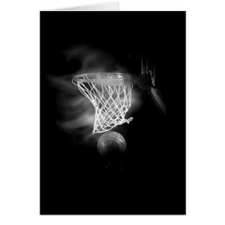 Baloncesto negro y blanco felicitaciones
