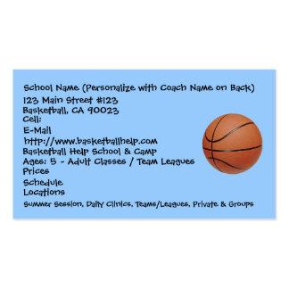 Baloncesto, nombre de la escuela (personalice con  plantilla de tarjeta de negocio
