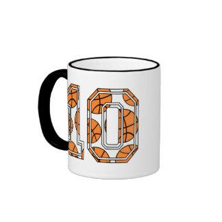 Baloncesto número 10 tazas de café