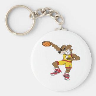 Baloncesto-Oso Llavero Redondo Tipo Pin