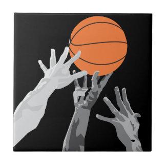 baloncesto para arriba para el diseño del vector d azulejo cuadrado pequeño