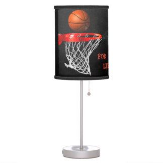 Baloncesto para la lámpara de mesa de la vida