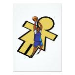 Baloncesto para mujer invitación 12,7 x 17,8 cm