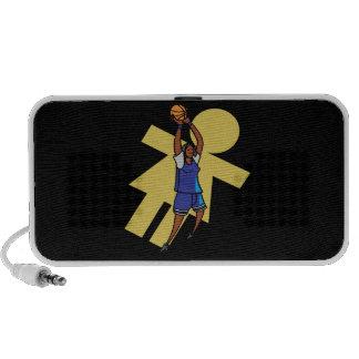 Baloncesto para mujer iPod altavoces