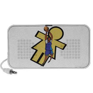 Baloncesto para mujer iPod altavoz