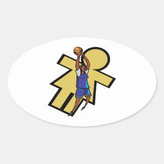Baloncesto para mujer calcomania óval personalizadas
