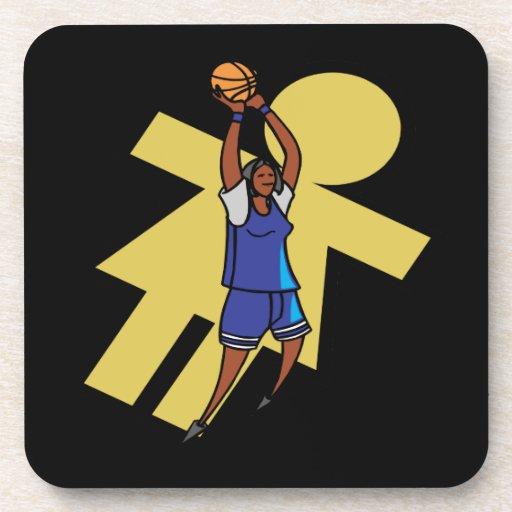 Baloncesto para mujer posavasos de bebidas