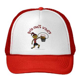 Baloncesto para mujer rojo oscuro gorra