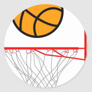 Baloncesto Etiqueta Redonda