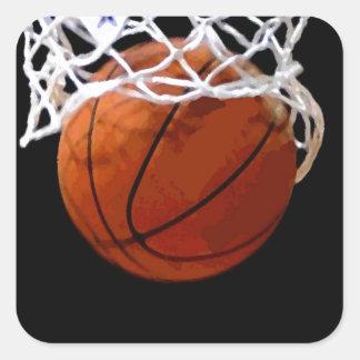 Baloncesto Pegatinas Cuadradas Personalizadas