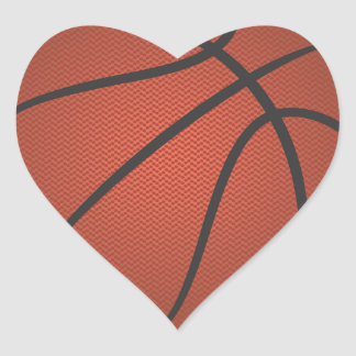 baloncesto calcomania de corazon