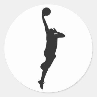 baloncesto pegatina redonda