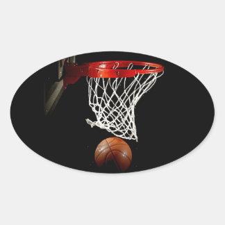 Baloncesto Calcomanía Oval Personalizadas