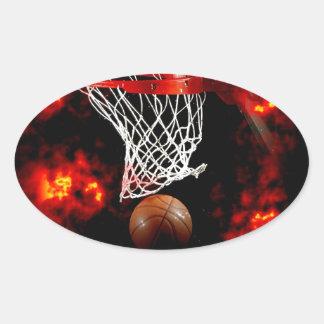 Baloncesto Calcomania Óval Personalizadas