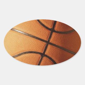 Baloncesto Calcomanías Ovales Personalizadas