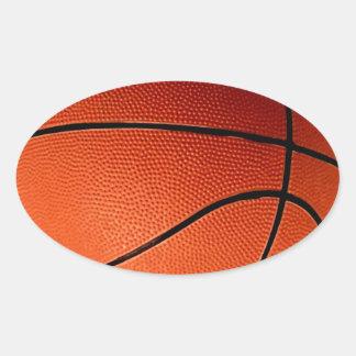 Baloncesto Calcomania De Óval Personalizadas