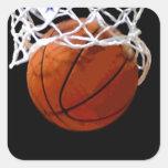 Baloncesto Pegatina Cuadrada
