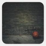 Baloncesto Pegatina Cuadradas