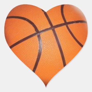 Baloncesto Pegatina En Forma De Corazón