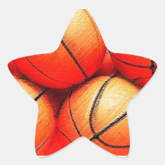 Baloncesto Pegatina En Forma De Estrella