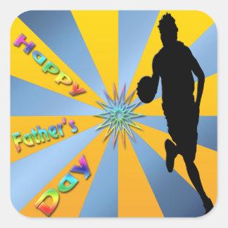 Baloncesto - pegatina feliz del día de padre