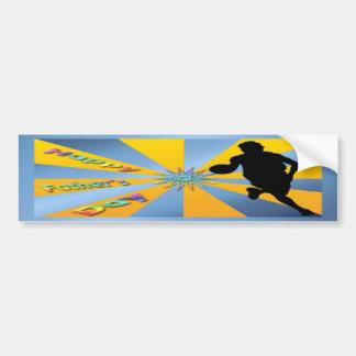 Baloncesto - pegatina para el parachoques feliz de pegatina para auto