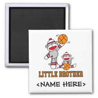 Baloncesto pequeño Brother de Sockmonkey Imán Cuadrado