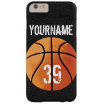 Baloncesto (Personalizable) Funda Para iPhone 6 Plus Barely There