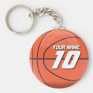 Baloncesto personalizado llavero redondo tipo pin