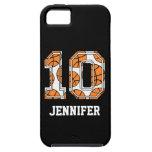 Baloncesto personalizado número 10 iPhone 5 protector