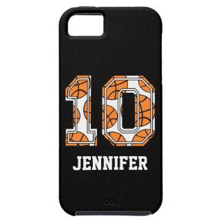 Baloncesto personalizado número 10 iPhone 5 carcasa
