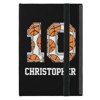 Baloncesto personalizado número 10 iPad mini coberturas