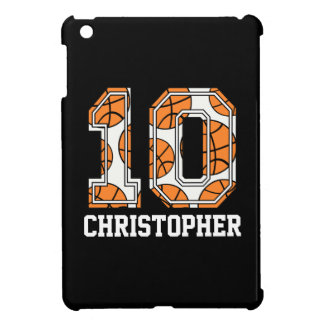 Baloncesto personalizado número 10 iPad mini cobertura
