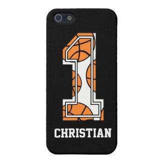 Baloncesto personalizado número 1 iPhone 5 carcasas