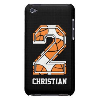 Baloncesto personalizado número 2 barely there iPod cárcasas