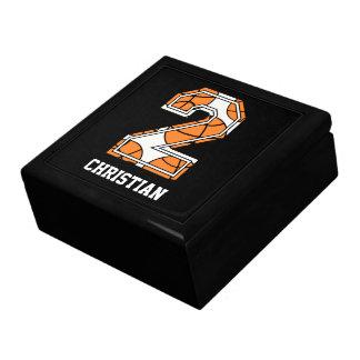 Baloncesto personalizado número 2 caja de joyas
