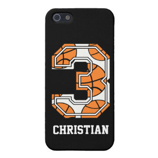Baloncesto personalizado número 3 iPhone 5 cobertura