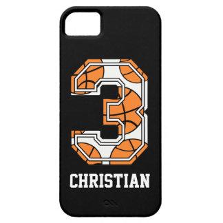 Baloncesto personalizado número 3 iPhone 5 funda