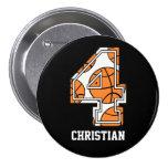 Baloncesto personalizado número 4 pins