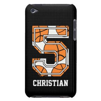 Baloncesto personalizado número 5 iPod touch protectores