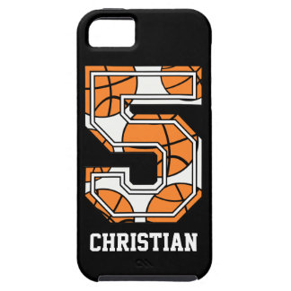 Baloncesto personalizado número 5 iPhone 5 carcasa