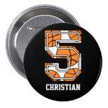 Baloncesto personalizado número 5 pin