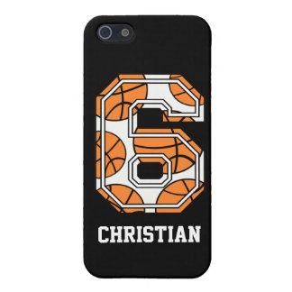 Baloncesto personalizado número 6 iPhone 5 coberturas