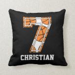 Baloncesto personalizado número 7 almohada