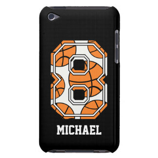 Baloncesto personalizado número 8 iPod touch cárcasas