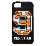 Baloncesto personalizado número 9 iPhone 5 Case-Mate protectores